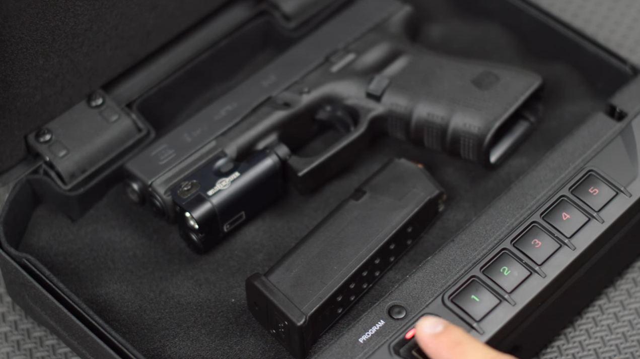 biometric gun safe harbor freight